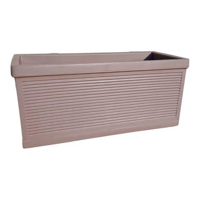 Cassetta portafiori Millerighe in plastica colore tortora