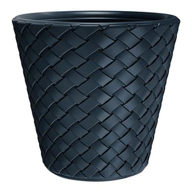 Vaso Matuba PROSPERPLAST in plastica colore antracite H 37 cm, Ø 30 cm