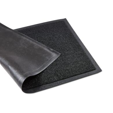 Tappeto spazzola Diamond in pvc nero 40x60 cm