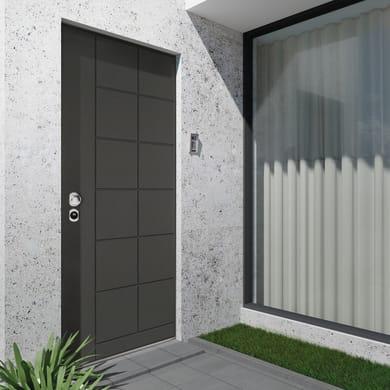 Porta blindata Maxima grigio L 90 x H 210 cm destra