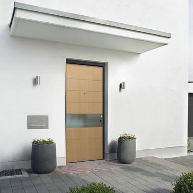Porta blindata Design rovere L 80 x H 210 cm sinistra