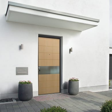 Porta blindata Design rovere L 90 x H 210 cm destra