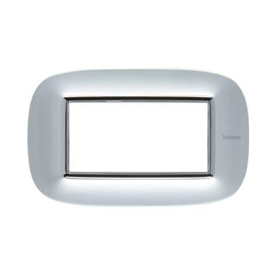 Placca BTICINO Axolute 4 moduli alluminio