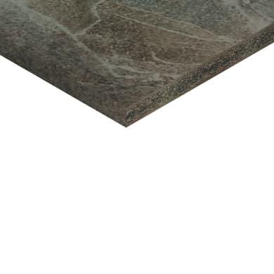 Piano cucina su misura in truciolare Cuma light grigio , spessore 4 cm