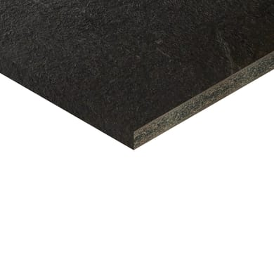 Piano cucina su misura in truciolare Luserna grigio scuro , spessore 4 cm