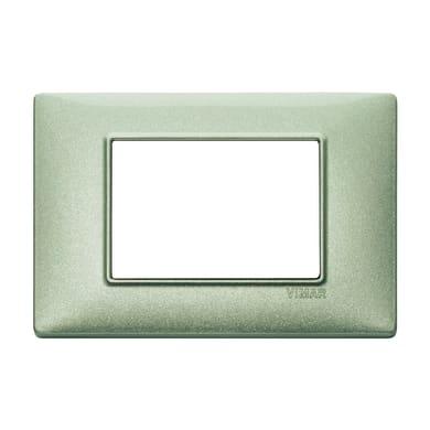 Placca VIMAR Plana 3 moduli verde metallizzato