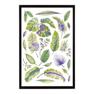Stampa incorniciata Tropical Fronds 20.7x25.7 cm