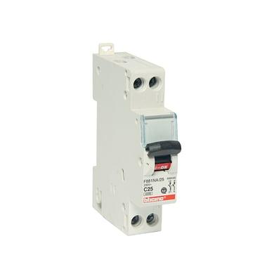 Interruttore magnetotermico BTICINO FC881C25 1P +N 25A C 1 modulo 230V
