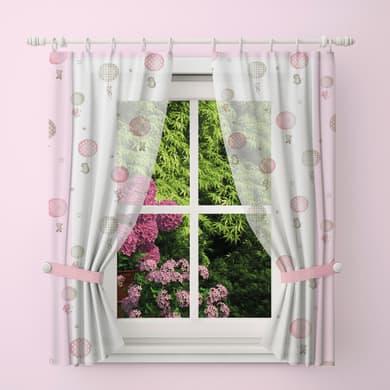 Tendina vetro Palloncini  rosa tunnel 60 x 240 cm