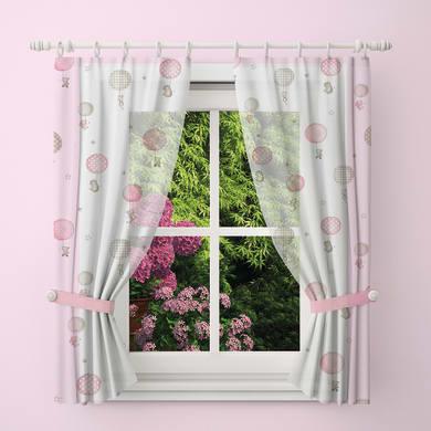 Tendina vetro Palloncini rosa tunnel 60 x 150 cm