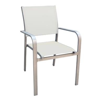 Sedia con braccioli in alluminio CHA 16G colore grigio