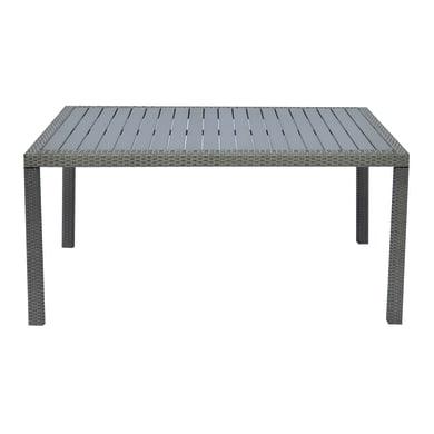 Tavolo da giardino rettangolare Bordeaux con piano in resina L 90 x P 150 cm