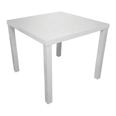 Tavolo da giardino quadrato Sandy con piano in alluminio L 80