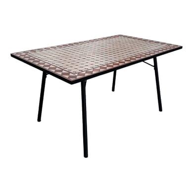 Tavolo da giardino rettangolare Mosaico con piano in mosaico L 90