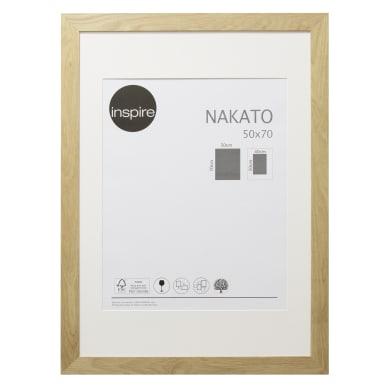 Cornice con passe-partout Inspire nakato rovere 50x70 cm