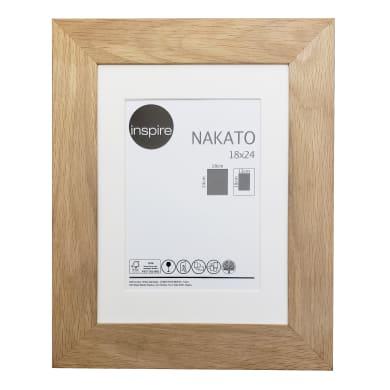 Cornice con passe-partout Inspire nakato rovere 18x24 cm