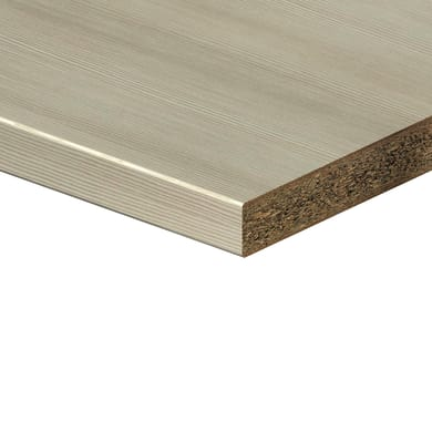 Piano di lavoro in legno legno chiaro L 180 x P 60 cm, spessore 0.28 cm