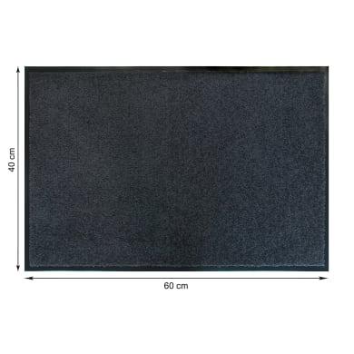 Tappeto spazzola Constant in poliammide grigio 40x60 cm