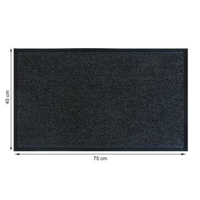 Tappeto spazzola Gabriel in polipropilene grigio 45x75 cm