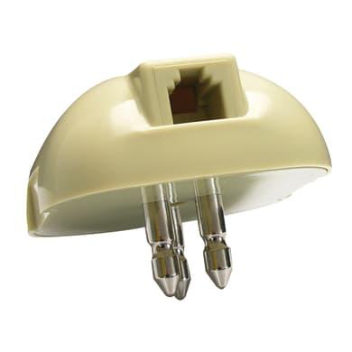 Spina telefonica RJ11 beige