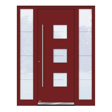 Portoncino d'ingresso QP40 rosso L 160 x H 210 cm sinistra