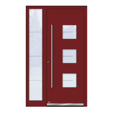Portoncino d'ingresso QP40 rosso L 120 x H 210 cm sinistra