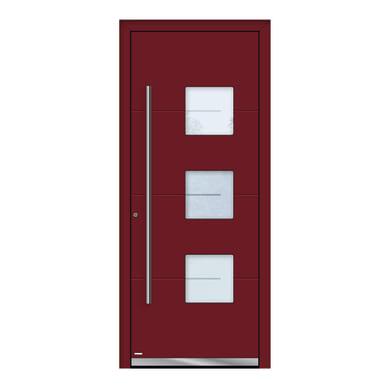 Portoncino d'ingresso QP40 rosso L 80 x H 210 cm destra