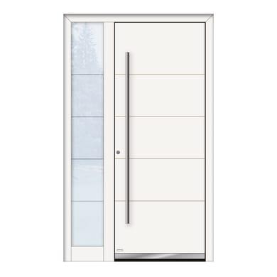 Portoncino d'ingresso QF20 bianco L 120 x H 210 cm sinistra