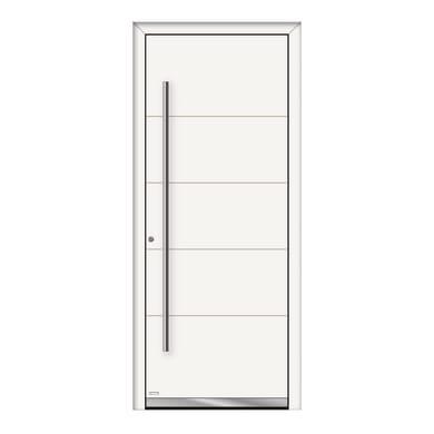 Portoncino d'ingresso QF20 bianco L 80 x H 210 cm destra