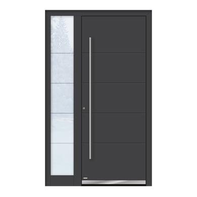Portoncino d'ingresso QF20 grigio L 120 x H 210 cm sinistra