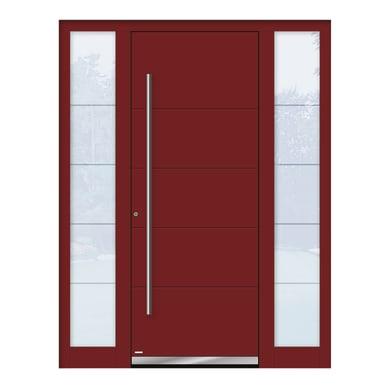 Portoncino d'ingresso QF20 rosso L 160 x H 210 cm sinistra