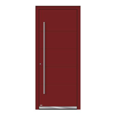 Portoncino d'ingresso QF20 rosso L 80 x H 210 cm sinistra