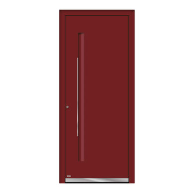 Portoncino d'ingresso QE10 rosso L 80 x H 210 cm destra
