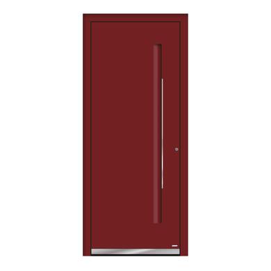 Portoncino d'ingresso QE10 rosso L 80 x H 210 cm sinistra