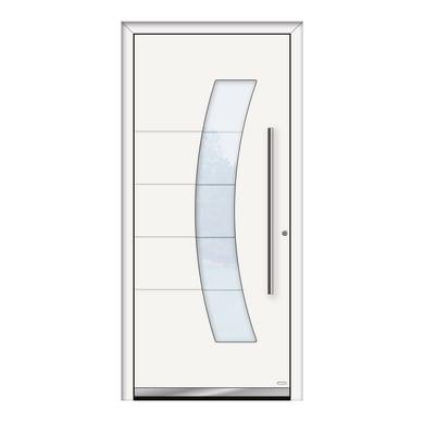Portoncino d'ingresso QS70 bianco L 90 x H 210 cm destra