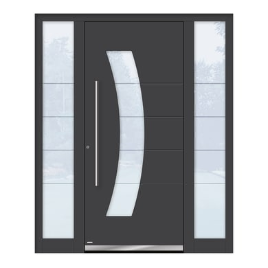 Portoncino d'ingresso QS70 grigio L 130 x H 210 cm sinistra