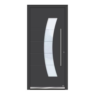 Portoncino d'ingresso QS70 grigio L 90 x H 210 cm destra