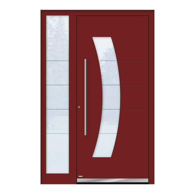 Portoncino d'ingresso QS70 rosso L 130 x H 210 cm sinistra