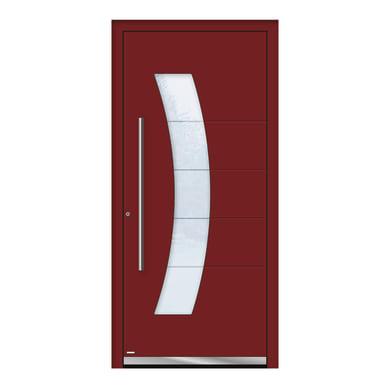 Portoncino d'ingresso QS70 rosso L 90 x H 210 cm destra