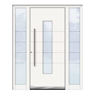 Portoncino d'ingresso QB50 bianco L 170 x H 210 cm sinistra