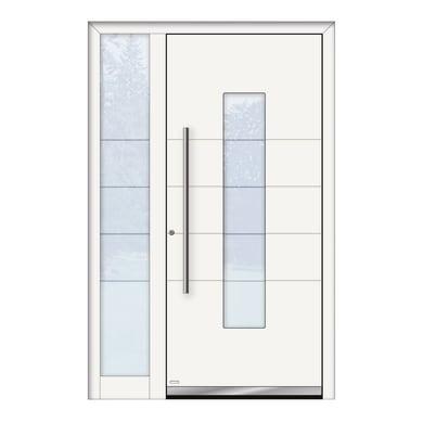 Portoncino d'ingresso QB50 bianco L 130 x H 210 cm sinistra