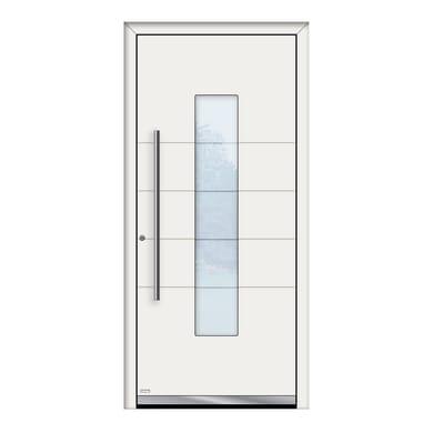 Portoncino d'ingresso QB50 bianco L 90 x H 210 cm sinistra