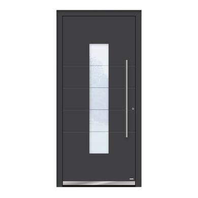 Portoncino d'ingresso QB50 grigio L 90 x H 210 cm destra