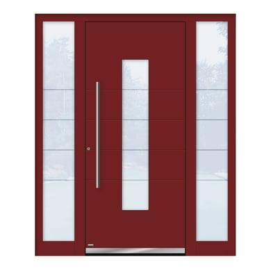 Portoncino d'ingresso QB50 rosso L 170 x H 210 cm sinistra