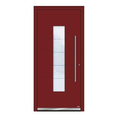 Portoncino d'ingresso QB50 rosso L 90 x H 210 cm sinistra