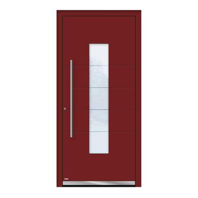 Portoncino d'ingresso QB50 rosso L 90 x H 210 cm destra
