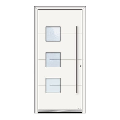 Portoncino d'ingresso QP40 bianco L 90 x H 210 cm destra