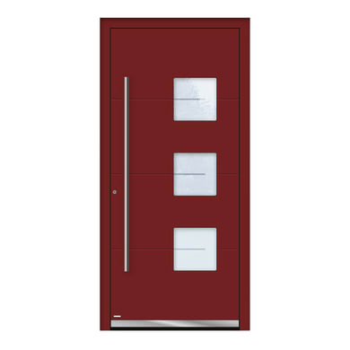 Portoncino d'ingresso QP40 rosso L 90 x H 210 cm destra