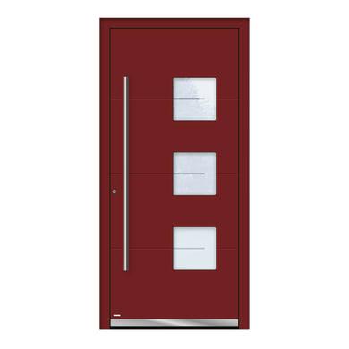Portoncino d'ingresso QP40 rosso L 90 x H 210 cm sinistra