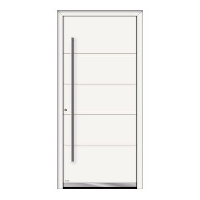 Portoncino d'ingresso QF20 bianco L 90 x H 210 cm sinistra